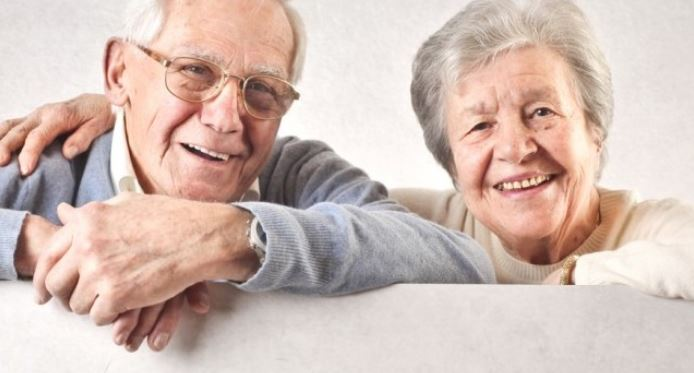 Seniors enjoying good life due to dental care and holistic health
